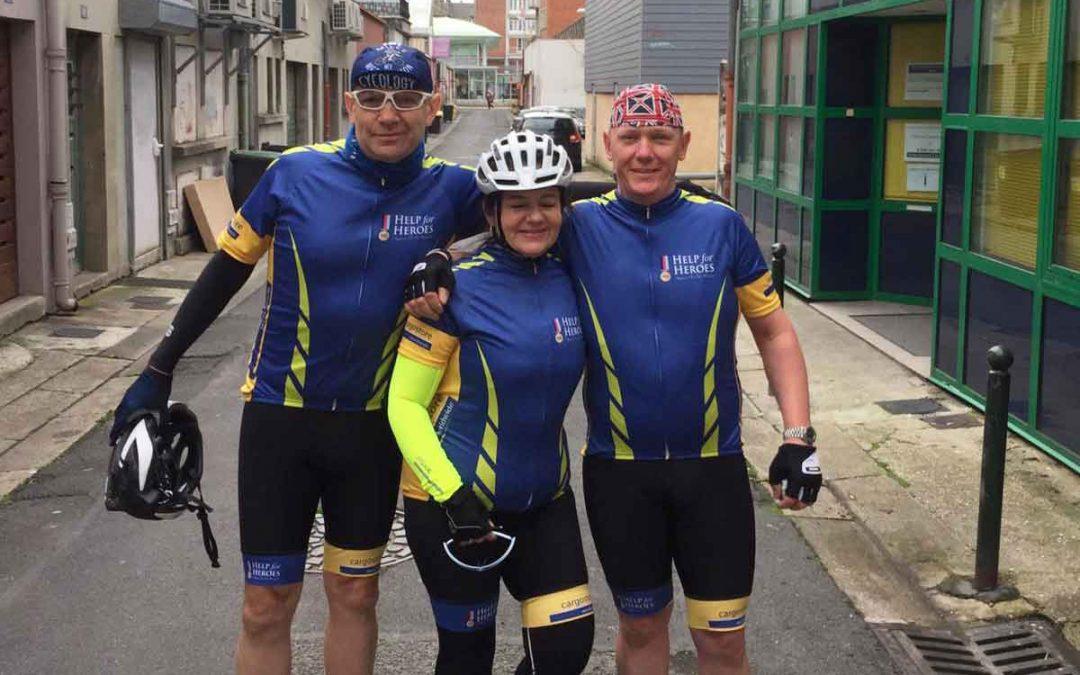 Cargostore sponsor cyclists in Help 4 Heroes Bike Ride