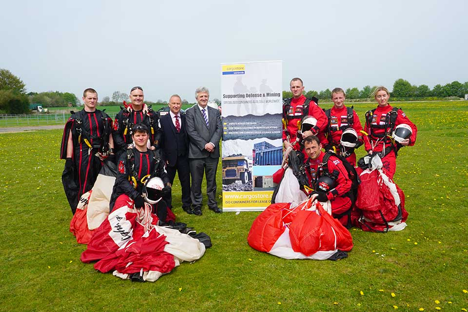 Cargostore Sponsors The Red Devils Freefall Team