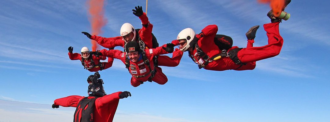 Four Daredevil Tandem Jumpers Raise Money for Four Fantastic Charities
