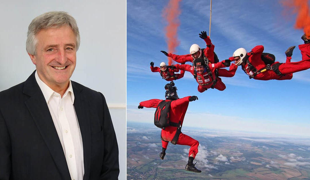 Cargostore's Finance Director Embarks on Hair Raising Skydive for Charity